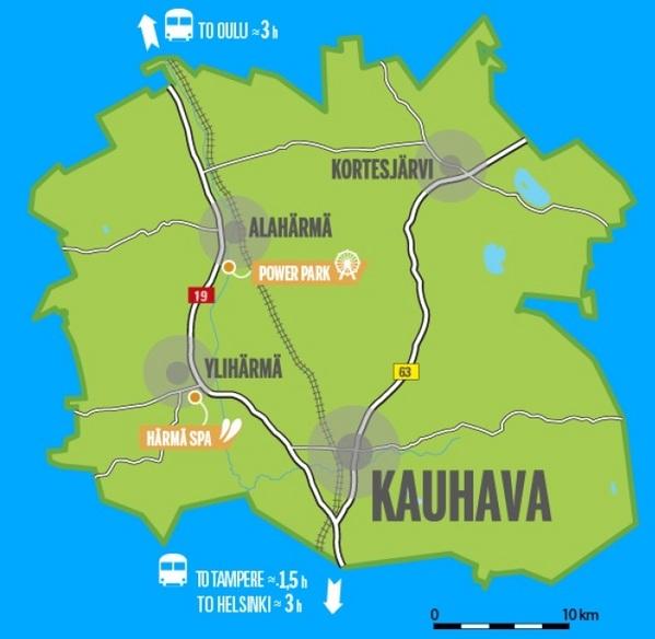 Map of Kauhava